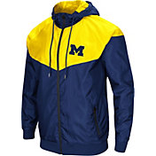 Colosseum Men's Michigan Wolverines Blue/Maize Galivanting Full Zip Jacket
