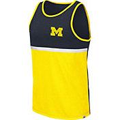 Colosseum Men's Michigan Wolverines Blue/Maize La Paz Tank Top