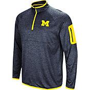 Colosseum Men's Michigan Wolverines Blue Amnesia Quarter-Zip Shirt