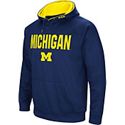 Colosseum Men's Michigan Wolverines Blue Fleece Pullover Hoodie