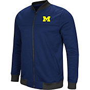 Colosseum Men's Michigan Wolverines Blue Sack The QB Full-Zip Bomber Jacket