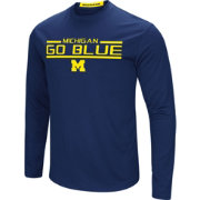 Colosseum Men's Michigan Wolverines Blue Long Sleeve Performance T-Shirt