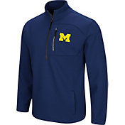 Colosseum Men's Michigan Wolverines Blue Townie Half-Zip Jacket