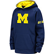Colosseum Youth Michigan Wolverines Blue Fleece Pullover Hoodie