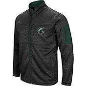 Colosseum Men's Michigan State Spartans Glacier Full-Zip Black Jacket