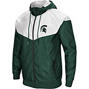 Colosseum Men's Michigan State Spartans Green/White Galivanting Full Zip Jacket
