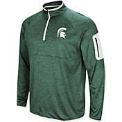 Colosseum Men's Michigan State Spartans Green Amnesia Quarter-Zip Shirt