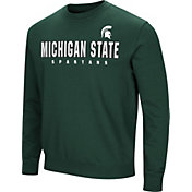 Colosseum Men's Michigan State Spartans Green Playbook Fleece