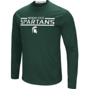 Colosseum Men's Michigan State Spartans Green Long Sleeve Performance T-Shirt