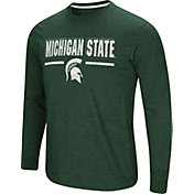 Colosseum Men's Michigan State Spartans Green Touchdown Long Sleeve T-Shirt