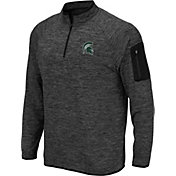Colosseum Men's Michigan State Spartans Grey Quarter-Zip Top