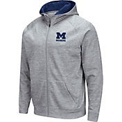 Colosseum Men's Michigan State Spartans Grey Full-Zip Hoodie