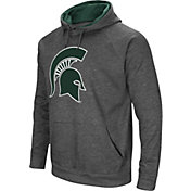 Colosseum Men's Michigan State Spartans Grey Fleece Pullover Hoodie