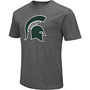 Colosseum Men's Michigan State Spartans Grey Dual Blend T-Shirt