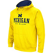 Colosseum Men's Michigan Wolverines Maize Fleece Pullover Hoodie