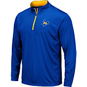 Colosseum Men's McNeese State Cowboys Royal Blue Embossed Quarter-Zip Performance Shirt