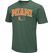 Colosseum Men's Miami Hurricanes Green Dual Blend T-Shirt
