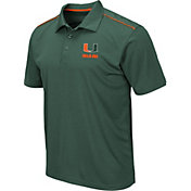 Colosseum Men's Miami Hurricanes Green Eagle Polo