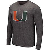 Colosseum Men's Michigan Wolverines Grey Long Sleeve T-Shirt