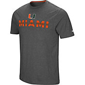 Colosseum Men's Miami Hurricanes Grey Medula Oblongata T-Shirt