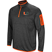 Colosseum Men's Miami Hurricanes Grey Amnesia Quarter-Zip Shirt