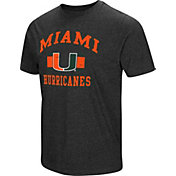 Colosseum Men's Miami Hurricanes Grey Tri-Blend T-Shirt