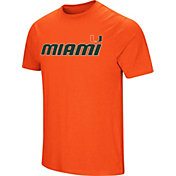 Colosseum Men's Miami Hurricanes Orange Brushed Performance T-Shirt