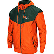 Colosseum Men's Miami Hurricanes Orange/Green Galivanting Full Zip Jacket