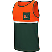 Colosseum Men's Miami Hurricanes Orange/Green Lollygaggers Tank Top