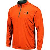 Colosseum Men's Miami Hurricanes Orange Embossed Quarter-Zip Performance Shirt