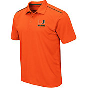 Colosseum Men's Miami Hurricanes Orange Eagle Polo