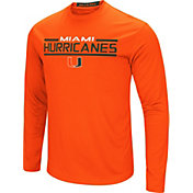 Colosseum Men's Miami Hurricanes Orange Long Sleeve Performance T-Shirt