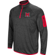 Colosseum Men's Miami RedHawks Grey Amnesia Quarter-Zip Shirt