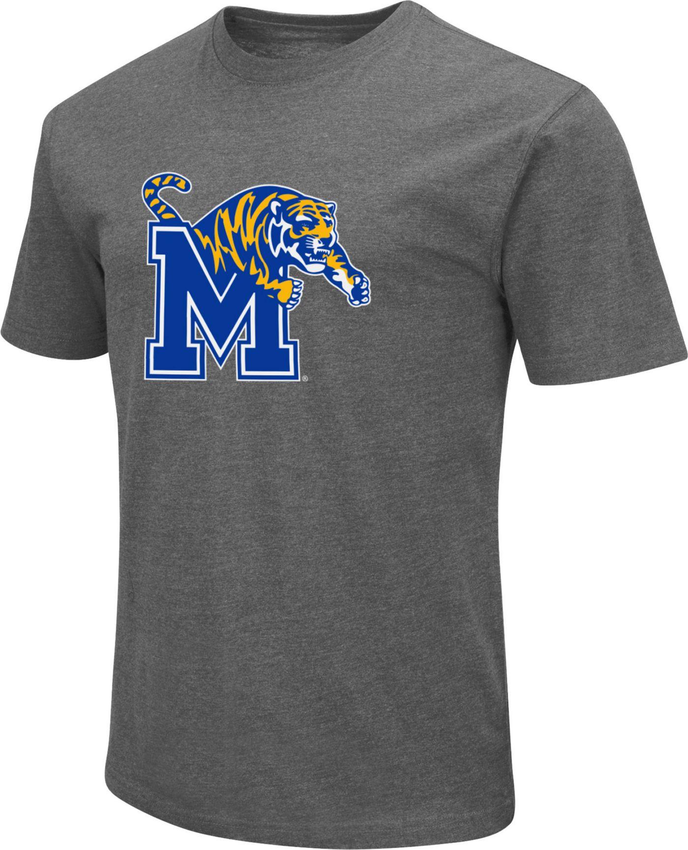 Colosseum Men's Memphis Tigers Grey Dual Blend T-Shirt