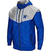 Colosseum Men's Memphis Tigers Blue/Grey Galivanting Full Zip Jacket
