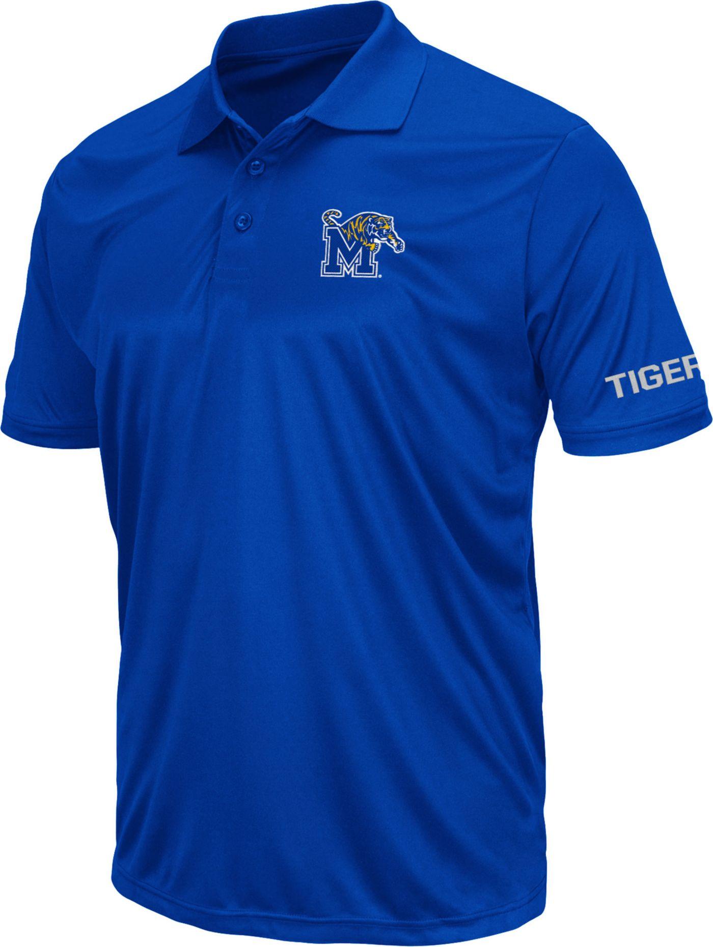Colosseum Men's Memphis Tigers Blue Stance Polo