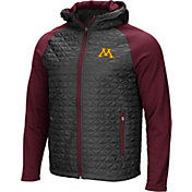 Colosseum Men's Minnesota Golden Gophers Grey/Maroon Baseplate Full-Zip Jacket