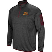 Colosseum Men's Minnesota Golden Gophers Grey Amnesia Quarter-Zip Shirt