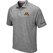 Colosseum Men's Minnesota Golden Gophers Grey Chip Shot Polo