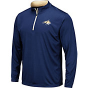 Colosseum Men's Montana State Bobcats Blue Embossed Quarter-Zip Performance Shirt