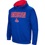 Colosseum Men's American University Eagles Blue Fleece Pullover Hoodie