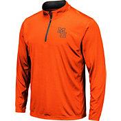Colosseum Men's Mercer Bears Orange Embossed Quarter-Zip Performance Shirt