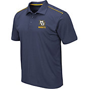 Colosseum Men's Marquette Golden Eagles Blue Eagle Polo