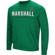 Colosseum Men's Marshall Thundering Herd Green Playbook Fleece
