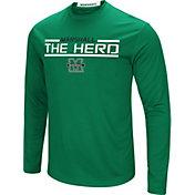 Colosseum Men's Marshall Thundering Herd Green Long Sleeve Performance T-Shirt