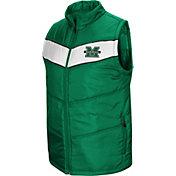 Colosseum Men's Marshall Thundering Herd Green Red Beauleiu Full-Zip Vest