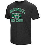 Colosseum Men's Marshall Thundering Herd Grey Tri-Blend T-Shirt