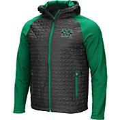 Colosseum Men's Marshall Thundering Herd Grey/Green Baseplate Full-Zip Jacket
