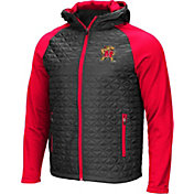 Colosseum Men's Maryland Terrapins Grey/Red Baseplate Full-Zip Jacket