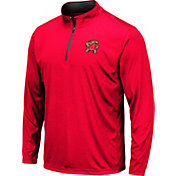 Colosseum Men's Maryland Terrapins Red Embossed Quarter-Zip Performance Shirt